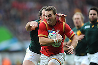 George North of Wales breaks down the wing during Match 41 of the Rugby World Cup 2015 between South Africa and Wales - 17/10/2015 - Twickenham Stadium, London<br /> Mandatory Credit: Rob Munro/Stewart Communications