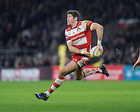 James Hook of Gloucester Rugby in action during the Aviva Premiership Rugby match between Harlequins and Gloucester Rugby at Twickenham Stadium on Tuesday 27th December 2016 (Photo by Rob Munro/Stewart Communications)