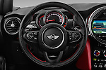 Car pictures of steering wheel view of a 2016 MINI MINI JCW 3 Door Hatchback Steering Wheel