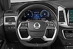 Car pictures of steering wheel view of a 2021 Ssangyong Rexton Sapphire 5 Door SUV Steering Wheel