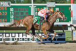 30 MAY 2010: Just Jenda, Terry Thompson up, leads gate to wire in the Monmouth Beach Stakes at Monmouth Park.