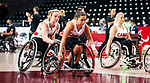 Rosalie Lalonde and Elodie Tessier, Tokyo 2020 - Wheelchair Basketball // Basketball en fauteuil roulant.<br /> Canada takes on the USA in the wheelchair basketball quarterfinal // Le Canada affronte les États-Unis en quart de finale de basketball en fauteuil roulant. 31/08/2021.