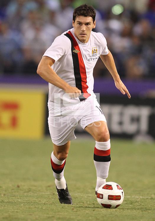 Adam Johnson #11 of Manchester City during an international friendly match against Inter Milan on July 31 2010 at M&T Bank Stadium in Baltimore, Maryland. Milan won 3-0.