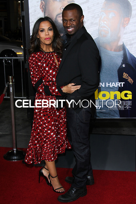 """HOLLYWOOD, CA - JANUARY 13: Aonika Laurent and Sean Patrick at the Los Angeles Premiere Of Universal Pictures' """"Ride Along"""" held at the TCL Chinese Theatre on January 13, 2014 in Hollywood, California. (Photo by David Acosta/Celebrity Monitor)"""