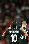 AC Milan Midfielder Hakan Calhanoglu celebrating his score during the 2017 International Champions Cup China match between FC Bayern and AC Milan at Universiade Sports Centre Stadium on July 22, 2017 in Shenzhen, China. Photo by Marcio Rodrigo Machado/Power Sport Images
