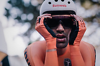 Defending champion Tom Dumoulin (NED/Sunweb) rolls out after fiishing and realises he lost his rainbow jersey to Dennis<br /> <br /> MEN ELITE INDIVIDUAL TIME TRIAL<br /> Hall-Wattens to Innsbruck: 52.5 km<br /> <br /> UCI 2018 Road World Championships<br /> Innsbruck - Tirol / Austria