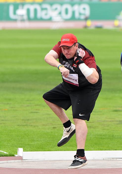 David Bambrick, Lima 2019 - Para Athletics // Para-athlétisme.<br /> David Bambrick competes in shotput // David Bambrick participe au lancer du poids. 26/08/2019.
