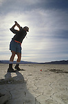 The Black Rock Self Invitational Golf Tournament at Lucifer's Anvil Golf Course. Located on the playa of the Black Rock Desert near Gerlach Nevada.