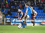 St Johnstone v Hearts.....18.01.14   SPFL<br /> Stevie May scores to make it 3-1<br /> Picture by Graeme Hart.<br /> Copyright Perthshire Picture Agency<br /> Tel: 01738 623350  Mobile: 07990 594431