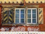 CH, Switzerland, Canton Uri, Hotel Posthaus Urigen (window)