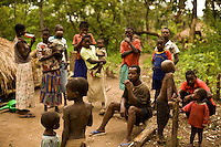 Refugee community in Nzara South Sudan.