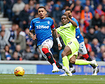 05.05.2019 Rangers v Hibs: James Tavernier and Stephane Omeonga