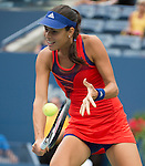 Ana Ivanovic (SRB) takes on Victoria Azarenka at the US Open being played at USTA Billie Jean King National Tennis Center in Flushing, NY on September 3, 2013
