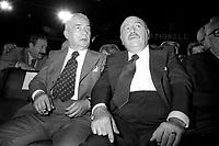 Davide Lajolo, scrittore e politico PCI con  Paolo Grassi, sovraintendente del teatro alla Scala di Milano (1977)