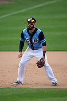 Syracuse Chiefs third baseman Jason Martinson (5) during a game against the Pawtucket Red Sox on July 6, 2015 at NBT Bank Stadium in Syracuse, New York.  Syracuse defeated Pawtucket 3-2.  (Mike Janes/Four Seam Images)