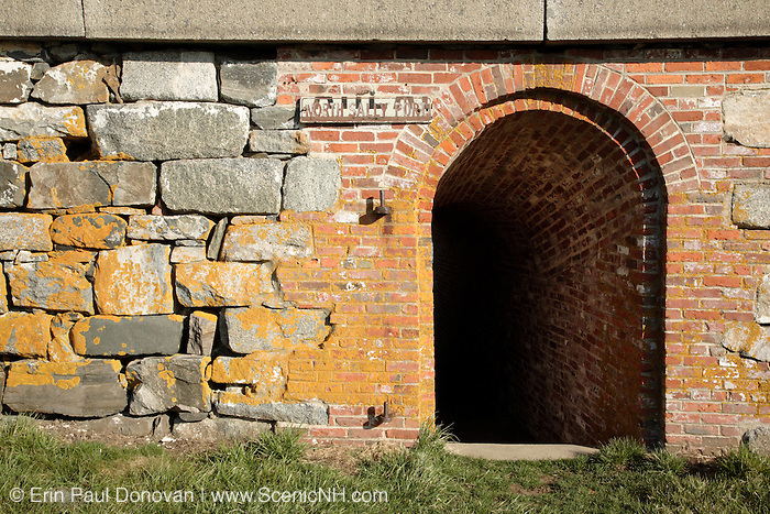 Fort Constitution in New Castle, New Hampshire USA during the spring months.