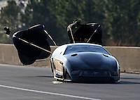 Mar. 15, 2013; Gainesville, FL, USA; NHRA pro mod driver Eric Dillard during qualifying for the Gatornationals at Auto-Plus Raceway at Gainesville. Mandatory Credit: Mark J. Rebilas-