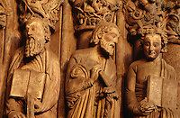 Portico d.l.Gloria in Kathedrale, Santiago de Compostella, Galicien, Spanien, Unesco-Weltkulturerbe.