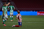 Renan Lodi (Atletico de Madrid) celebs victory after  La Liga match round 36 between Atletico de Madrid and Real Betis Balompie at Wanda Metropolitano Stadium in Madrid, Spain, as the season resumed following a three-month absence due to the novel coronavirus COVID-19 pandemic. Jul 11, 2020.