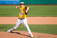 Alexander Zarate (29) of the Western Illinois Leathernecks during a game vs. the Missouri State Bears at Hammons Field in Springfield, Missouri;  March 20, 2011.  Photo By David Welker/Four Seam Images