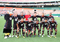 Starting eleven of D.C. United during an Open Cup match against Real Salt Lake at RFK Stadium, on June 2 2010 in Washington DC. DC United won 2-1.