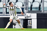 3rd January 2021, Allianz Stadium, Turin Piedmont, Italy; Serie A Football, Juventus versus Udinese; Goal celebration from Federico Chiesa  for 2-0 in the 49th minute