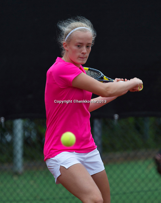 07-08-13, Netherlands, Rotterdam,  TV Victoria, Tennis, NJK 2013, National Junior Tennis Championships 2013, Loes Siderius<br /> <br /> <br /> Photo: Henk Koster