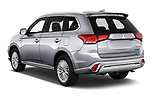 Car pictures of rear three quarter view of 2019 Mitsubishi Outlander-PHEV Intense-4wd 5 Door SUV Angular Rear
