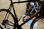 Feather Cycles stand at Bespoked 2018 UK handmade bicycle show held at Brunel's Old Station & Engine Shed, Bristol, England. 21st April 2018.<br /> Picture: Eoin Clarke | Cyclefile<br /> <br /> <br /> All photos usage must carry mandatory copyright credit (© Cyclefile | Eoin Clarke)