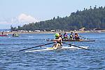 Port Townsend, Rat Island Regatta, rowers, Robin Pike; Ashland OR, MAAS Flyweight, racing, Sound Rowers, Rat Island Rowing Club, Puget Sound, Olympic Peninsula, Washington State, water sports, rowing, kayaking, competition,