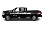 Car Driver side profile view of a 2020 GMC Sierra-2500-HD Denali 4 Door Pick-up Side View