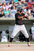 May 25, 2008: Quad Cities River Bandits starting infielder Francisco Rivera (18) at bat against the Kane County Cougars at Elfstrom Stadium in Geneva, IL. Photo by: Chris Proctor/Four Seam Images