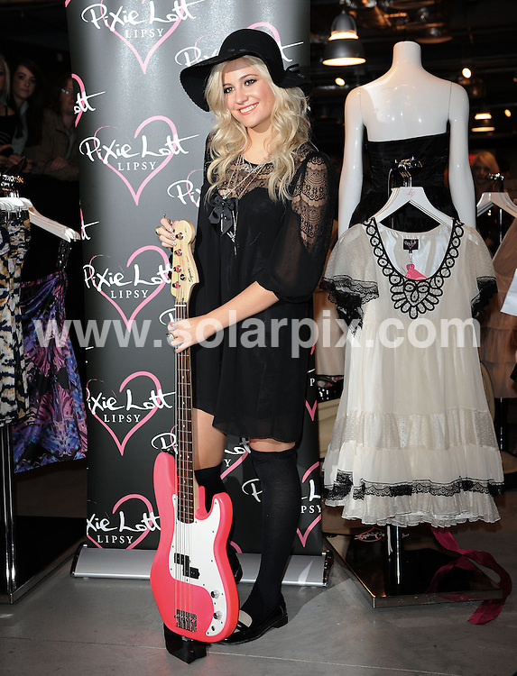 **ALL ROUND PICTURES FROM SOLARPIX.COM**                                             **WORLDWIDE SYNDICATION RIGHTS**                                                                                  Caption:    Pixie Lott launches her Autumn/Winter Fashion Range for Lipsy at House of Fraser, on Tuesday September 28, 2010.                                                                           This pic:     Pixie Lott                                                                                          JOB REF:   12122     SSD       DATE:   28.09.10                                                         **MUST CREDIT SOLARPIX.COM OR DOUBLE FEE WILL BE CHARGED**                                                                      **MUST AGREE FEE BEFORE ONLINE USAGE**                               **CALL US ON: +34 952 811 768 or LOW RATE FROM UK 0844 617 7637**