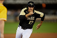 UCF Knights Nick Romano (17) running the bases during a game against the Siena Saints on February 14, 2020 at John Euliano Park in Orlando, Florida.  UCF defeated Siena 2-1.  (Mike Janes/Four Seam Images)