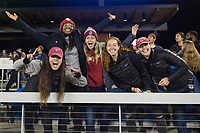 Stanford, CA - December 8, 2019: Fans at Avaya Stadium. The Stanford Cardinal won their 3rd National Championship, defeating the UNC Tar Heels 5-4 in PKs after the teams drew at 0-0.