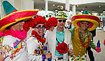 LOUISVILLE, KY - MAY 05: Fans wear sombreros to celebrate Cinco de Mayo on Kentucky Derby Day at Churchill Downs on May 5, 2018 in Louisville, Kentucky. (Photo by Scott Serio/Eclipse Sportswire/Getty Images)