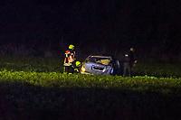 Autofahrer überschlug sich auf Feld nahe Büttelborn<br /> - 17.10.2020: Verkehrsunfall auf der L3303