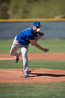 Chicago Cubs starting pitcher Erich Uelmen (40) during a Minor League Spring Training game against the Los Angeles Angels at Sloan Park on March 20, 2018 in Mesa, Arizona. (Zachary Lucy/Four Seam Images)