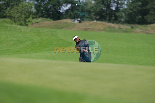 Mardan Mamat chips in on his final hole the 9th during the 2nd round of the Smurfit Kappa European Open at The K Club, Strffan,Co.Kildare, Ireland 6th July 2007 (Photo by Eoin Clarke/NEWSFILE)