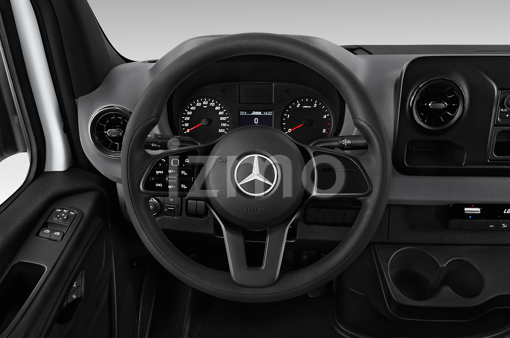 Car pictures of steering wheel view of a 2019 Mercedes Benz Sprinter-Cargo-Van Base 4 Door Cargo Van