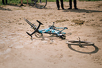 """post-crash mechanical issues...<br /> <br /> Antwerp Port Epic 2018 (formerly """"Schaal Sels"""")<br /> One Day Race:  Antwerp > Antwerp (207 km; of which 32km are cobbles & 30km is gravel/off-road!)"""