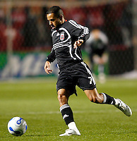 DC United midfielder Fred (7). The Chicago Fire defeated D. C. United 1-0 during the first leg of the MLS Eastern Conference Semifinal Series at Toyota Park in Bridgeview, IL, on October 25, 2007.