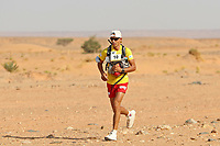 4th October 2021; Tisserdimine to Kourci Dial Zaid;  Marathon des Sables, stage 2 of  a six-day, 251 km ultramarathon, which is approximately the distance of six regular marathons. The longest single stage is 91 km long. This multiday race is held every year in southern Morocco, in the Sahara Desert. Aziz Yachou (MOR)