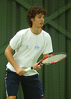 10-3-06, Netherlands, tennis, Rotterdam, National indoor junior tennis championchips, Mike Soyer