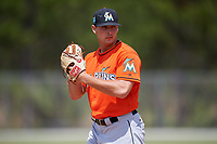 Miami Marlins pitcher Sam Perez (70) during a Minor League Spring Training game against the St. Louis Cardinals on March 26, 2018 at the Roger Dean Stadium Complex in Jupiter, Florida.  (Mike Janes/Four Seam Images)