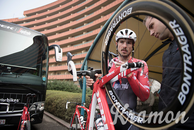 preparing for the 108th Milano - Sanremo 2017<br /> (day before the race)