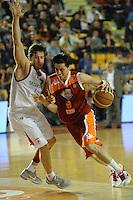 Modente (Roma) Fultz (Teramo).Roma, 16/04/2012 PalaTiziano.Basket Campionato di Pallacanestro serie A1.Acea Roma vs Banca Tercas Teramo.Foto Insidefoto Antonietta Baldassarre