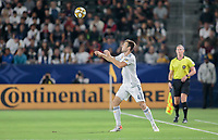 CARSON, CA - SEPTEMBER 21: Dave Romney #4 during a game between Montreal Impact and Los Angeles Galaxy at Dignity Health Sports Park on September 21, 2019 in Carson, California.