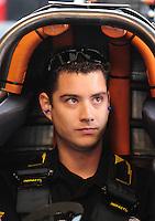 Jan 23, 2009; Chandler, AZ, USA; NHRA top fuel dragster driver Spencer Massey during testing at the National Time Trials at Firebird International Raceway. Mandatory Credit: Mark J. Rebilas-