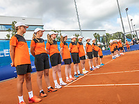 Amstelveen, Netherlands, 1 August 2020, NTC, National Tennis Center, National Tennis Championships, Men's Doubles final: ballkids lineup<br /> Photo: Henk Koster/tennisimages.com